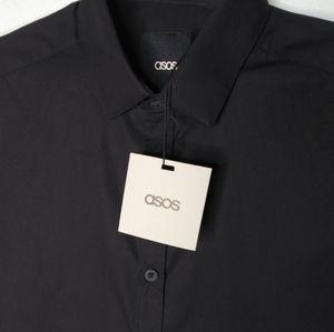 ASOS Brand Short Sleeve Button Front Shirt